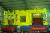 Heißer Verkaufs-kommerzieller preiswerter aufblasbarer Prahler, springendes federnd Schloss mit Plättchen