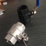 Tipo de pesado Acero al carbono 2PC Válvula de bola