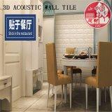 Azulejo auto-adhesivo decorativo del PVC 3D Soundabsorb para el restaurante