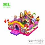 Castello rimbalzante gonfiabile di Funcity di tema della Camera della caramella, combinato gonfiabile