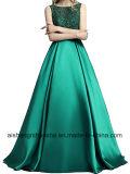 Linha de Retorno vestido longo comprimento de piso cetim vestido Prom Formal