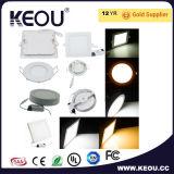 Ce/RoHS alta potencia de 2700K-6500K de la superficie de la fábrica de luz LED panel