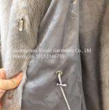 Cappotto lungo reale delle donne della pelliccia del visone di modo di inverno del parka su ordinazione di riserva della pelliccia (H1916)
