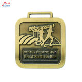 記念品のための創造的な金張りの金属メダルをカスタマイズしなさい