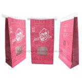 Wiederversiegelbarer Fastfood- Papierbeutel mit Zinn-Gleichheit und Fenster