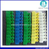 Hohe Quanlity Tierohr-Marke mit dem Zahl-Barcode gedruckt