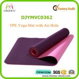 Циновка с отверстием для воздуха, удобная циновка йоги TPE Eco содружественная