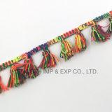 Дизайн многоцветные Tassel кружева фрезерование хлопчатобумажной ткани из текстиля одежды для принадлежностей