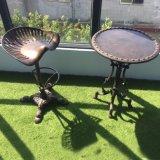 Mesa e cadeiras do jantar da mobília do metal usadas para a praia do jardim e do mar