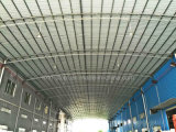 Edificio de marco de acero redondo del tubo del bajo costo del palmo grande con la correa de la sección de C
