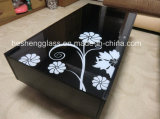 10mm Negro vidrio templado como Coffee Table Top