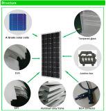 Поставщик ранга панель солнечных батарей 100W клетки Mono