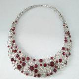 卸し売りダイヤモンドの水晶女性のラインストーンの銀のチョークバルブのネックレス