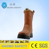 Usine prix bon marché Semelle PU Direct Steel Toe en cuir véritable travail industriel étanche Chaussures de sécurité de travail