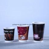 Бумажные стаканчики горячего двойника кофеего 12oz изолируя с крышкой