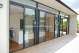 Liso elegante superficie táctil de aluminio ventanas y puertas