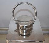 Conjunto de diseño moderno de acero inoxidable linterna