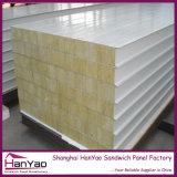 El panel de emparedado de acero incombustible de las lanas de roca para la pared