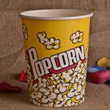 Personalizadas en la taza de papel o un cubo de palomitas de maíz para el cine