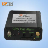 Remote One-Key Starter GPS Alarme de carro com alerta de porta aberta, 2 Way Talking Tk220-Ez