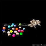 Großhandelsform-runde Plastikmehrfarbenperlen-Metallzubehör dekorativ