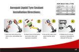 オートバイ車の管のタイヤ修理接着剤
