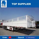 Titan-Fahrzeug - der Zaun-Typ Viehbestand-Flachbettsattelschlepper mit 3 Wellen für Verkauf