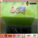 High-Gloss 녹색 상점 로고 3mm 폴리에스테 코팅 알루미늄 훈장 위원회