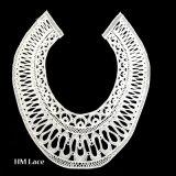 Collare del merletto di figura del cerchio, collare rotondo del merletto, Applique Closed X003 del collare del ricamo
