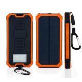 Portátil impermeable al aire libre Viajes 10000mAh, la energía solar móvil Banco con luces LED