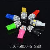 다채로운 T10-5050-5SMD 폭 램프 LED 194 168의 W5w 차 측 쐐기(wedge) 테일 빛 램프 전구 LED 자동차 주차 LED 번호판 램프 계기 빛 지시자