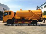 Dongfeng 4X2の下水の真空の吸引のトラック8-9m3の下水の吸引のトラック