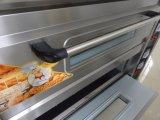 Geavanceerd 2 Dekken 4 de Apparatuur van het Baksel van de Oven van het Dek van het Gas van Dienbladen