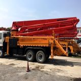 사용하는 또는 Isuzu/Chassis를 가진 Original Elephant/Putzmeister 37mlength/Boom Concrete Pump