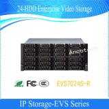 Almacenaje video de la empresa del Sas SATA 24-HDD del almacenaje del IP de Dahua (EVS7024S-R)