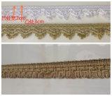 Lavorare a mano i coperchi dell'ammortizzatore assettati Tringe del merletto del velluto del Crochet