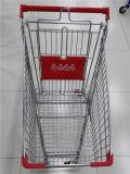 고품질 금속 슈퍼마켓 4 바퀴 쇼핑 트롤리