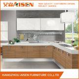 Module de cuisine en bois moderne de placage de meubles italiens accessibles