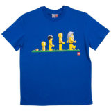 Plain Coton T-shirt avec logo personnalisé imprimé