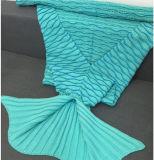 2017 새로운 Handmade 양털은 인어 테일 담요를 덮는다