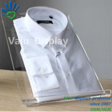 Présentoir acrylique transparent clair de chemise/présentoir de mémoire de support étalage de chemise