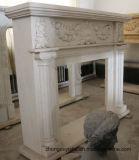auf Verkaufs-Marmor-Kaminen mit feiner Hand-Geschnitzter Qualität und einfachem Entwurf T-7101