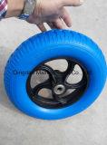 Transpaleta manual de pequeño tamaño de la rueda de goma ruedas de goma.