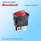 Fábrica de China 4A 250Vca iluminados en rojo el interruptor basculante para el hogar los dispositivos electrónicos