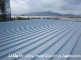 Feuilles de toiture de manganèse de magnésium d'Al ou feuille incurvées de toit de blocage de clip