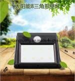 Lámpara de pared al aire libre accionada solar de los sensores de movimiento de la carrocería