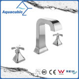 Zwei Loch-Kalt-/Warmwasser Auslaufventil der Griff-Messingwasser-Methoden-drei (AF0032-6)