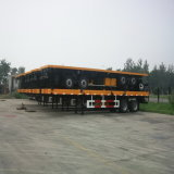 40FTの3axle平面運送容器の半トレーラー