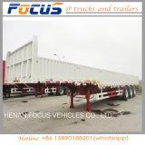 半3axle平面貨物側面のトラックのトレーラー