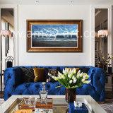 Qualitäts-Meerblick-Ölgemälde mit blauem Meer und Himmel für Hauptdekoration